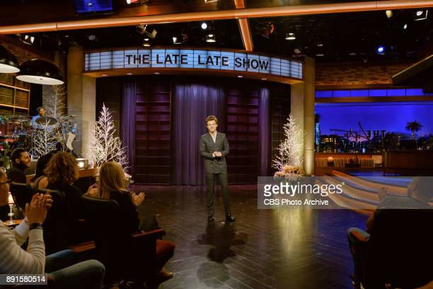 Special guest host Harry Styles performs the monologue during 'The Late Late Show with James Corden' Tuesday December 12 2017 On The CBS Television...
