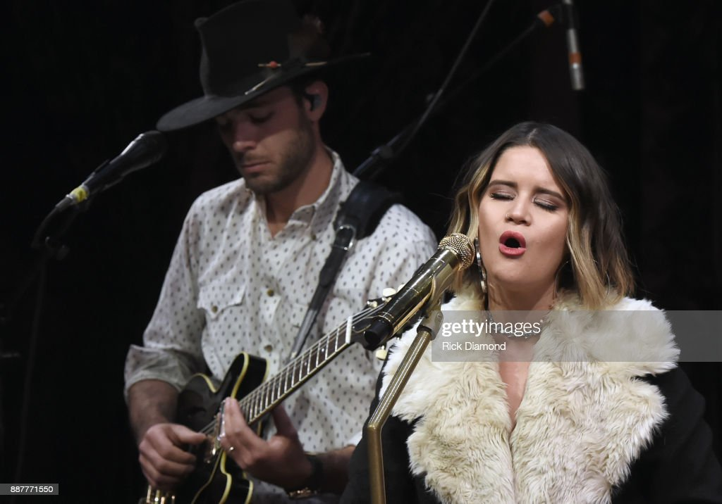Special guest Maren Morris performs onstage with The Shadowboxers for Spotify Open House Nashville at Analog in the Hutton Hotel on December 6, 2017 in Nashville, Tennessee.