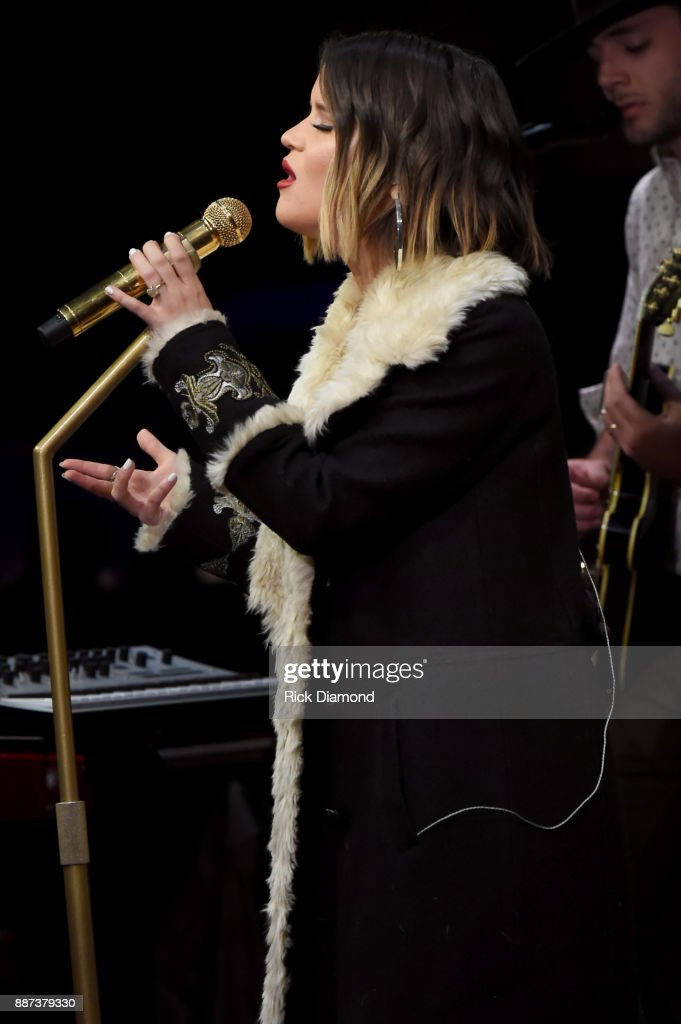Special guest Maren Morris rehearses onstage with The Shadowboxers for Spotify Open House Nashville at Analog at the Hutton Hotel on December 6, 2017 in Nashville, Tennessee.