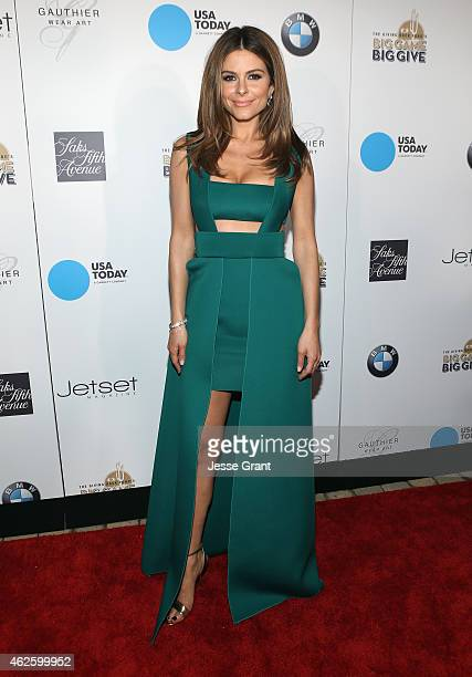 Special guest Maria Menounos attends The Giving Back Fund's Big Game Big Give at the home of Erika and Matt Williams on January 31 2015 in Phoenix...