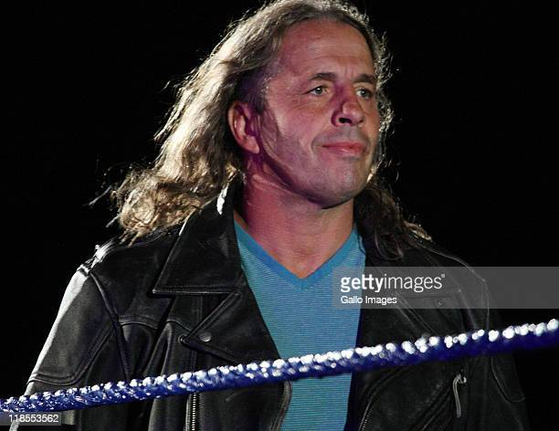Special guest referee Bret 'The Hitman' Hart during the WWE Smackdown Live Tour at Westridge Park Tennis Stadium on July 08 2011 in Durban South...