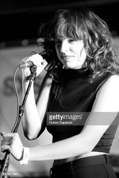 Special guest Sabrina Ellis performs with Superchunk onstage at the Music Opening Party during SXSW at The Main on March 13 2018 in Austin Texas