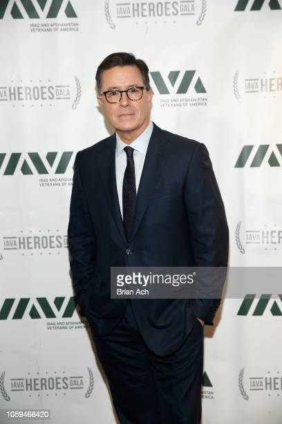 Special guest Stephen Colbert attends IAVA 12th Annual Heroes Gala at the Classic Car Club Manhattan on November 8, 2018 in New York City.
