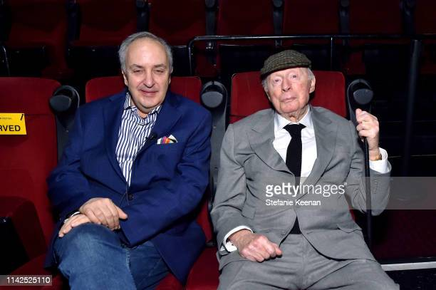 Special Guests Bruce Goldstein and Norman Lloyd attend the screening of 'Blood Money' at the 2019 TCM 10th Annual Classic Film Festival on April 13...