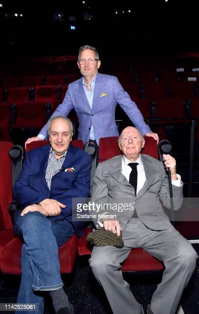 Special Guests Bruce Goldstein Mark Wynns and Norman Lloyd attend the screening of 'Blood Money' at the 2019 TCM 10th Annual Classic Film Festival on...