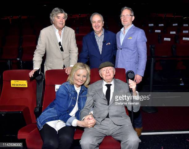 Special Guests Bruce Goldstein Norman Lloyd and Mark Wynns at the screening of 'Blood Money' at the 2019 TCM 10th Annual Classic Film Festival on...