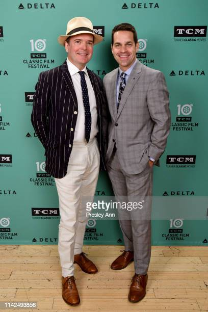 Special Guests Jefferson Mays and Dave Karger attend the screening of Kind Hearts and Coronets at the 2019 TCM 10th Annual Classic Film Festival on...