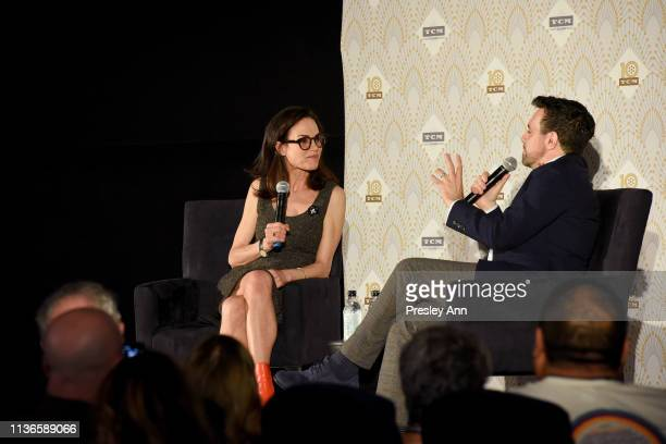 Special Guests Jennifer Grant and Mario Cantone speak onstage at the screening of 'My Favorite Wife' at the 2019 TCM 10th Annual Classic Film...
