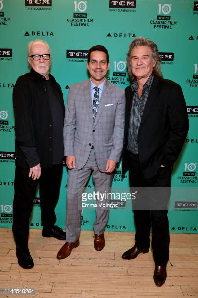 Special Guests John Carpenter TCM Host Dave Karger and Kurt Russell attend the screening of 'Escape from New York' at the 2019 TCM 10th Annual...