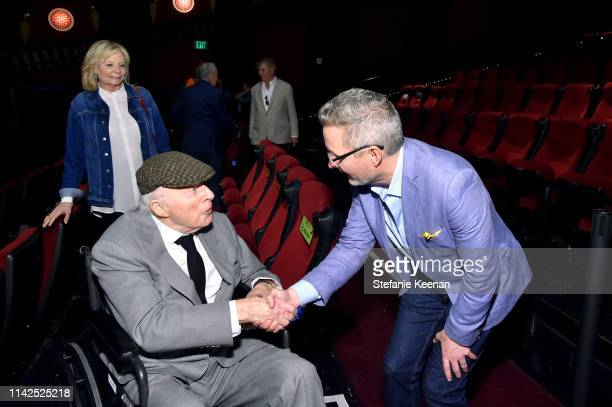 Special Guests Norman Lloyd and Mark Wynns attend the screening of 'Blood Money' at the 2019 TCM 10th Annual Classic Film Festival on April 13 2019...