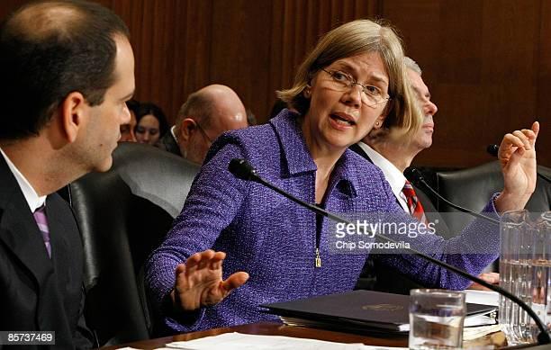 TARP Special Inspector General Neil Barofsky Congressional Oversight Panel Chairman Elizabeth Warren and acting US Comptroller General Gene Dodaro...
