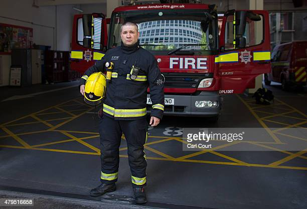Special Instruction ** Picture Only To Be Used In Conjunction With 7/7** Firefighter Cem Cam is pictured outside Dowgate Fire Station on June 25 2015...