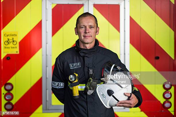Special Instruction ** Picture Only To Be Used In Conjunction With 7/7** Stephen Hockin a firefighter poses for a portrait at Chelsea Fire Station on...