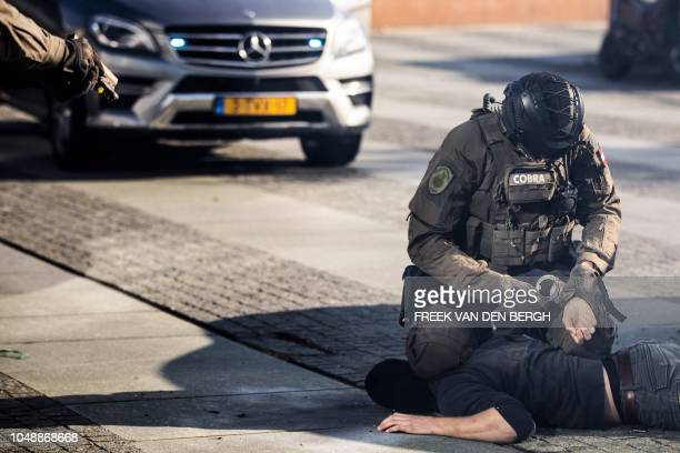 Special intervention units from different countries give a demonstration in The Hague The Netherlands on October 10 2018 after Europol and ATLAS the...