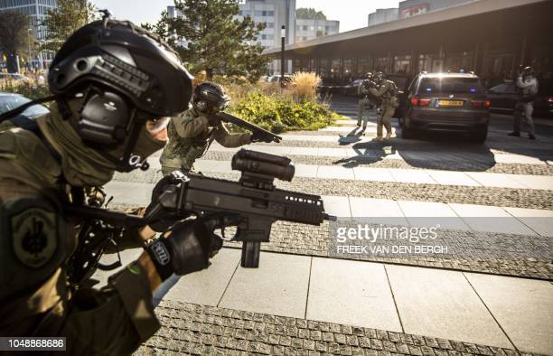 Special intervention units from different countries give a demonstration in The Hague, The Netherlands, on October 10, 2018 after Europol and ATLAS,...