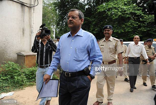 Special Investigation Team member Ashish Bhatia who has been appointed by the Supreme Court of India arrives at the Trial Court compound in Ahmedabad...