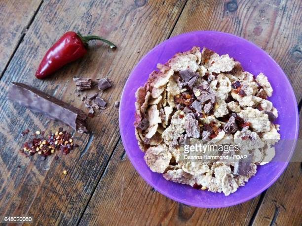 Special Kellogg's sprinkled with chili flakes