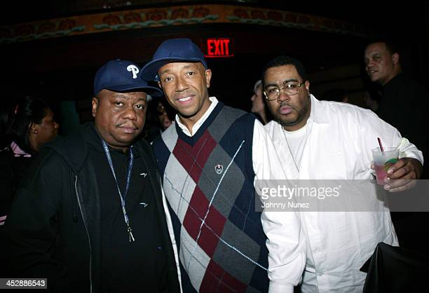 Special K,Russell Simmons and Teddy Ted during Phat Farm Magic Party at Buddah Bar at the Palms Hotel in Nevada, Las Vegas, United States.