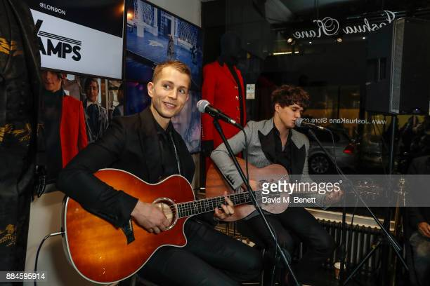A special live acoustic performance by The Vamps at the Joshua Kane London Flagship Store on December 2 2017 in London England