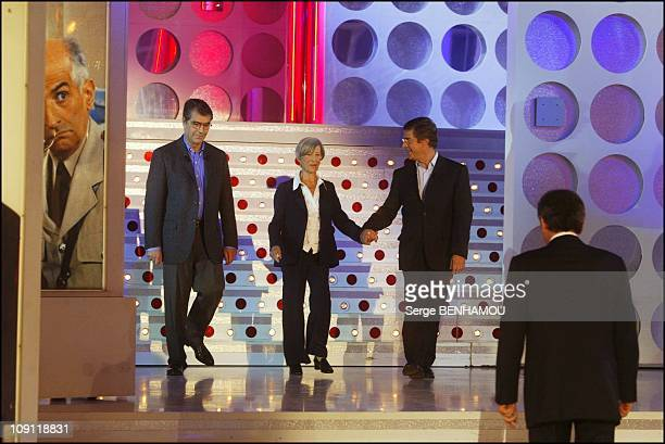 Special Louis De Funes On Vivement Dimanche On November 26 2003 In Paris France Patrick With Jeanne And Olivier De Funes