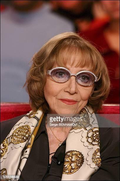 """""""Special Louis De Funes"""" On Vivement Dimanche. On November 26, 2003 In Paris, France. Colette Brosset."""