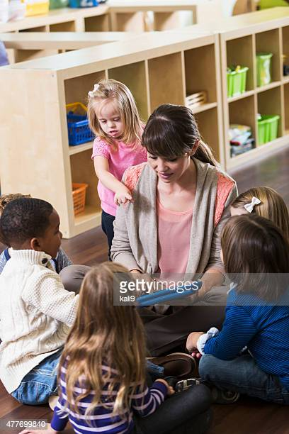 Special needs child in preschool class