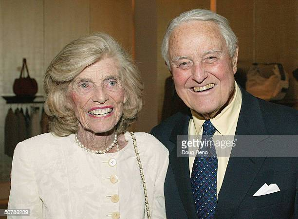 "Special Olympics founder and Honorary Chairperson Eunice Kennedy Shriver and husband Sargent Shriver attend the party for the ""Faces Of Sport"" party..."