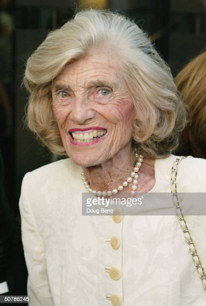 "Special Olympics founder and Honorary Chairperson Eunice Kennedy Shriver arrives for the ""Faces Of Sport"" party benefiting the Special Olympics on..."