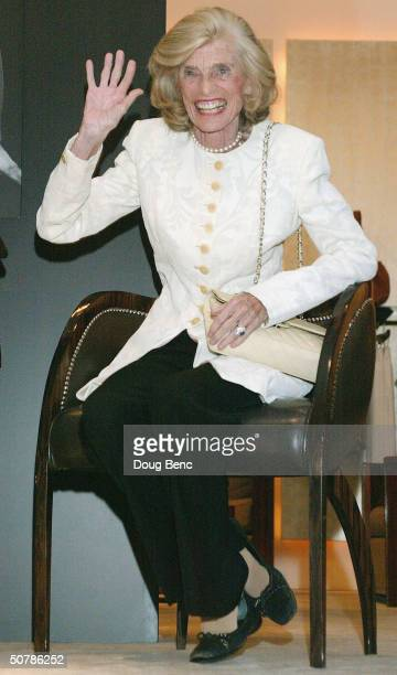 "Special Olympics founder and Honorary Chairperson Eunice Kennedy Shriver waves during the party for the ""Faces Of Sport"" party benefiting the Special..."