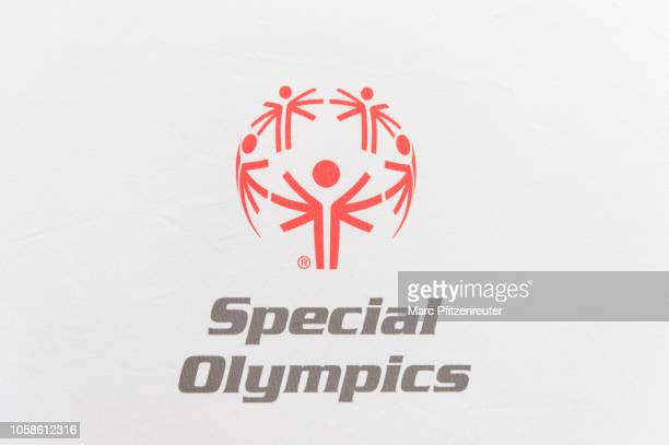 Special Olympics Logo at the WWE Live Tryout at the Motorworld on November 7 2018 in Cologne Germany