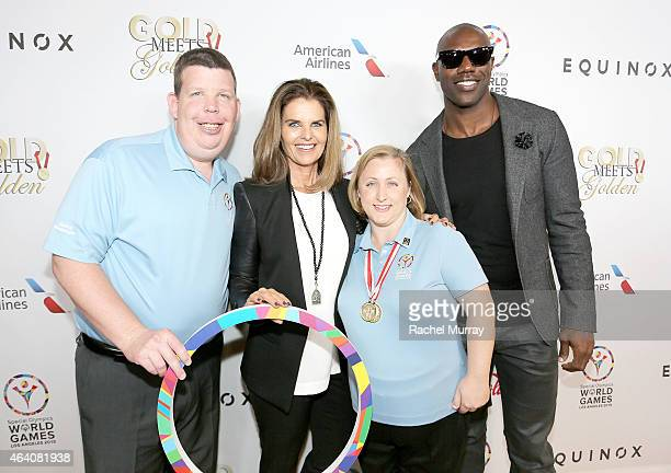 2015 Special Olympics World Games Global Messanger and athelete Dustin Plunkett Gold Meets Golden Host Maria Shriver 2015 Special Olympics World...