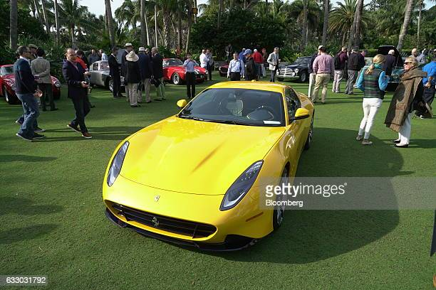 Special one-off 2016 Ferrari SpA SP275RW Competizione sports vehicle sits on display during the 26th Annual Cavallino Classic Event at the Breakers...