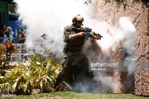 Special operators assault a simulated terrorist building to search for Tampa mayor Bob Buckhorn playing the roll of a dignitary kidnapped by...