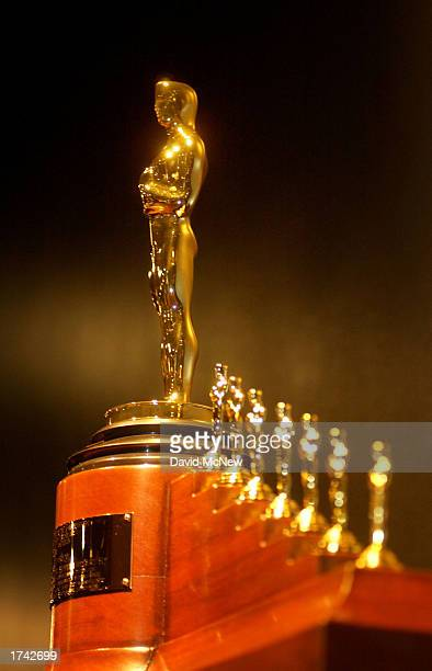 A special Oscar statuette that was awarded to Walt Disney in 1938 for Snow White and the Seven Dwarfs that shows an Oscar figure accompanied by seven...