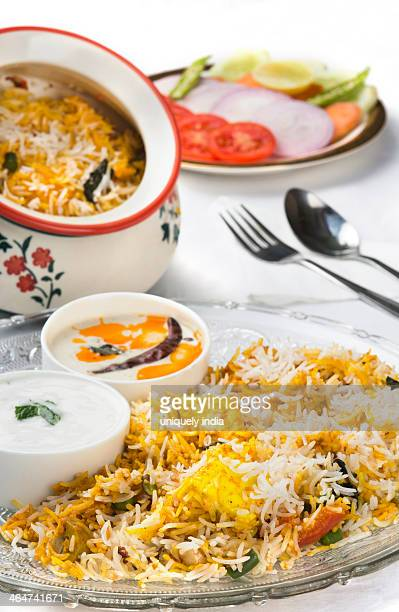 Special Peshawari Biryani served in a plate