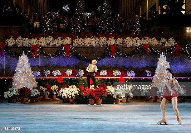 Christina Aguilera Singer Christina Aguilera rehearsing one of her latest hits Hurt for NBC's Christmas in Rockefeller Center to air Wednesday...