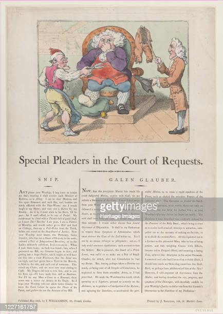 Special Pleaders in the Court of Requests May 28 1802 Artist Thomas Rowlandson