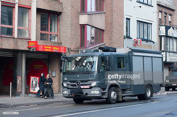 Special police force vehicles were used to free the hostage which was held by three armed men in Ghent