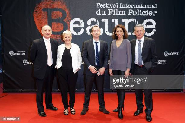 Special Police jury members Nicola Falvella Danielle Thiery Michel Faury Sophie Hatt François Bodin attend opening ceremony photocall of 10th Beaune...