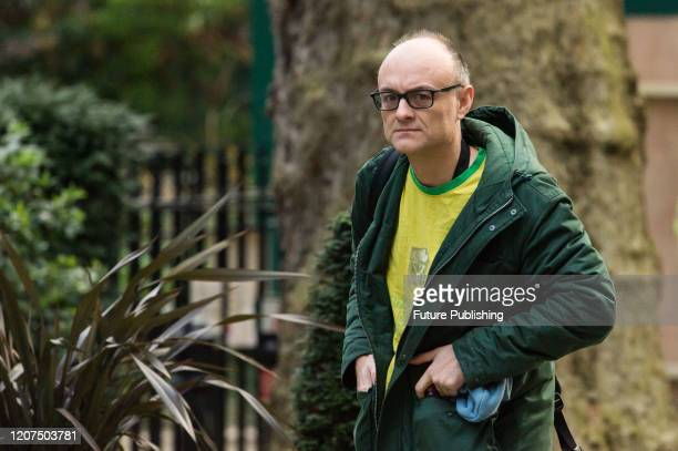 Special Political Advisor for the Prime Minister of the UK Dominic Cummings arrives in Downing Street in central London ahead of a Cabinet meeting on...