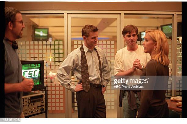 NIGHT 'Special Powers' BehindtheScenes Coverage Airdate October 5 1999 EPISODE DIRECTOR THOMAS SCHLAMME AND SHOW CREATOR AARON SORKIN WITH