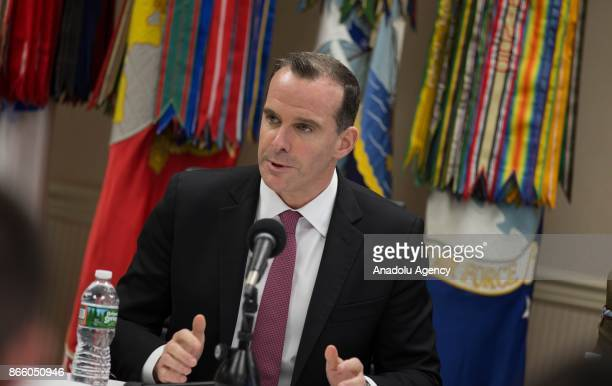 S Special Presidential Envoy for Global Coalition to Defeat Daesh Brett McGurk Chairman of the Joint Chiefs General Joseph Dunford and Colonel David...