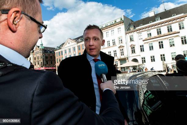 Special prosecuter Jakob BuchJepsen speaks to the press at Copenhagen City Court for the last court hearing against submarine owner Peter Madsen...