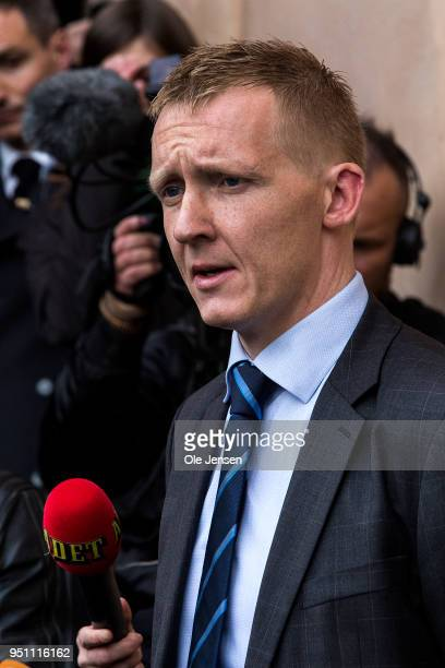 Special prosecutor Jakob BuchJepsen holds a press briefing after pronouncement of sentence in the case against submarine owner Peter Madsen for the...