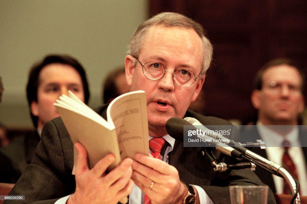 Starr Testimony to House Judiciary Committee : News Photo