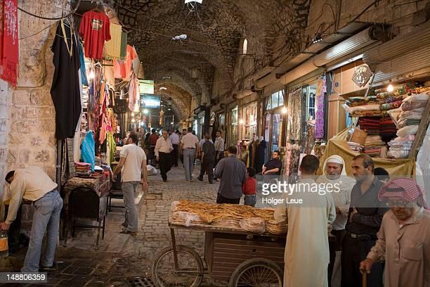 Special Ramadan bread for sale, Aleppo Souq.