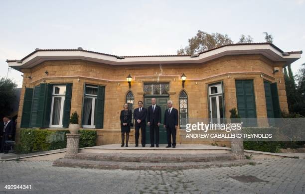 Special Representative and Head of the United Nations Peacekeeping Force in Cyprus Lisa Buttenheim Cypriot President Nicos Anastasiades US Vice...