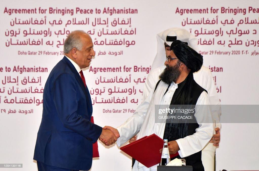 TOPSHOT-QATAR-US-AFGHANISTAN-DIPLOMACY-CONFLICT-TALIBAN : Nieuwsfoto's