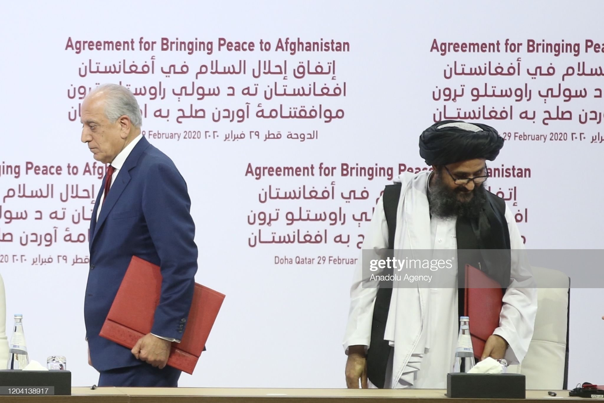 Taliban and US sign landmark peace deal in Doha, Qatar : News Photo