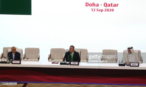 Special Representative for Afghanistan Zalmay Khalilzad , United States Secretary of State Mike Pompeo and Qatari Foreign Minister Sheikh Mohammed...